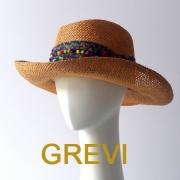 GREVI グレヴィ 帽子 麦わら帽子 中折れ テンガロンハット かわいい UV 夏 夏帽子 ツバ広 ハット レディース UVカット 紫外線防止 イタリア直輸入 ツバ広★送料無料