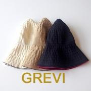 Grevi 帽子 グレヴィ ハット 折りたたみ つば広 ブレードハット ベージュ ネイビー クリーム UV 夏 帽子 レディース UVカット 紫外線防止 日よけ おしゃれ イタリア直輸入★送料無料