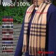 マフラー チェック ウール 100% タータンチェックのストール 厚手 メンズ レディース ウール100 カシミヤタッチ タータン 赤 黒★メール便対応