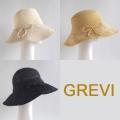【GREVI グレヴィ】麦わら帽子 リボン付  つば広 ストローハット イタリア直輸入 麦わら 帽子 ハット<GREVI ブレード帽子公式ショップ>★送料無料