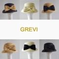 【GREVI  グレヴィ帽子】前 リボン 麦わら帽子 ストローハット UVカット 麦わら 帽子 ハット イタリア直輸入<GREVI ブレード帽子公式ショップ>★送料無料