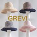 【GREVI  グレヴィ】グレビ帽子 ストライプ つば広 帽子 折りたたみ ハット イタリア直輸入 UVカット<GREVI ブレードハット 公式ショップ>★送料無料