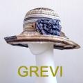 【グレヴィ GREVI  帽子】イタリア帽子 花 コサージュ付のブレードハット フラワー つば広 UV帽子 紫外線防止 フィレンツェ<GREVI ブレード 帽子 公式ショップ>★送料無料