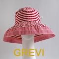 【GREVI  グレヴィ】ストライプ3カラー帽子 折りたたみ つば広 UVハット UVカット イタリア直輸入<グレヴィ 専門店>★送料無料