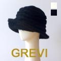 グレヴィ GREVI 帽子 ハット 秋冬 グレヴィ帽子 レディース ブラック ホワイト あたたかい 防寒 おしゃれ帽子 Firenze イタリア製 もこもこ ふわふわ★送料無料