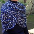 【Chunni】シルクウール ストール・高品質・オリジナルのシルク・ウールの大判ストール/アニマル柄・レオパード・ゼブラ・ヒョウ柄/パシュミナ・カシミアの肌触り★メール便対応