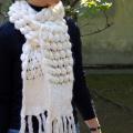 【ニット マフラー】かわいい!毛糸のストール・マフラー/レディースのポップコーンの柄 ギフトに最適!ニットマフラー