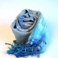 【シルクストール】ミッソーニ風ストール/絹100%ストール/インド製ペイズリー・波模様/結婚式・パーティーに最適★送料無料