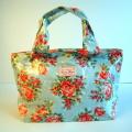 【Candy Flowers】トートバッグ  雨の日用のビニールバッグ 人気の花柄バッグ/ブライヤーローズ/イングリッシュフラワー
