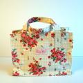 【Candy Flowers】ボックスバッグ  プレゼントにビニールバッグ ミニドット/ロンドンシーン/雨の日用★メール便対応