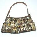 【ハンドメイドバッグ】ゴールド ショルダーバッグ パリで買付けのインポートバッグ