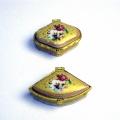 【ピルケース】ゴールドバラ柄のヴィンテージ風ピルケース イタリア・フィレンツェで買い付け【送料200円】
