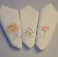 【ハンカチ】花刺しゅうのハンカチーフ イタリア・フィレンツェ老舗TAFで買い付け【メール便対応】