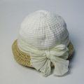【GREVI グレヴィ】キッズ帽子(子供) 麦わら帽子(ナチュラル・ホワイト)イタリア直輸入★送料無料