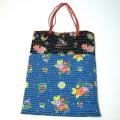 【ハンドメイドバッグ】手作りバッグ キルティング風の手作りバッグ(トート)