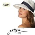 【gottex ゴテックス】中折れ帽子 ストローハット UPF50+ 麦わら帽子/メンズ/ブラック/UVカット<gottex中折れ 帽子 ハット ショップ>★送料無料