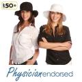 【Physiciane endorsed】折りたたみ帽子 フリンジ  つば広 UV UVカット ハット 日よけ UPF50+  ブラック ホワイト 紫外線防止の通販ショップ ★メール便対応