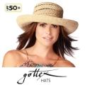 【gottex ゴテックス】ラフィアハット 折りたたみ 麦わら帽子のつば広 UPF50+ /UVカット ツバ広 ストローハット ラフィア 帽子・ハットの通販ショップ★送料無料