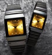 ペレバレンチノ(PERVALENTINO)ダイヤモンドミラノ角時計 2本組