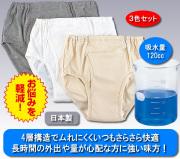 紳士安心さわやか(R)パンツ120同色3枚組
