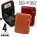 Milagro(ミラグロ) イタリア製ヌメ革ラウンドジップボックスコインケース CA-S-515