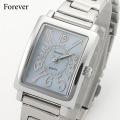 Forever フォーエバー レディース腕時計ブルーシェル文字盤 FL303