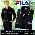 FILA 長袖ブラックポロシャツ
