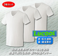 ルクール綿肌着V首半袖シャツ同サイズ3枚組
