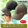 ヘッド ツイード調キャップ同サイズ2色組 / HEAD