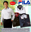 FILA 衿デザイン長袖ポロシャツ同サイズ3色組