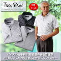 トロイ・ブロス スタンド襟ハーフジップ半袖シャツ同サイズ3色組 / TROY BROS