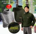 ちくちくしない洗えるタートルネックセーター同サイズ2色組