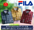 フィラ 2重ポケットサッカーチェックシャツ同サイズ3色組 / FILA