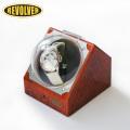 REVOLVER(リボルバー)自動巻き上げ機(ウォッチワインダー) カバー付 S-2 ブラウン(木目調)