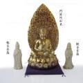 陶器製 阿弥陀三尊像
