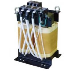 【送料無料】単相複巻 降圧電源トランス 静電シールド付 440/400/380→110/100V 15KVA