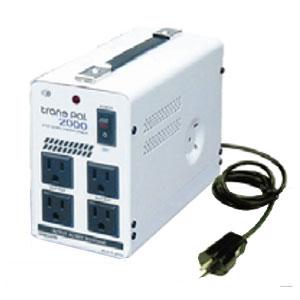 【送料無料】240Vの国で100Vに降圧するダウントランス2000W 安全機能付きで安心