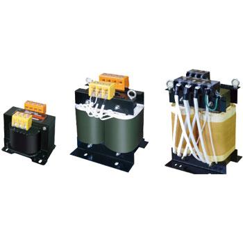 【送料無料】単相複巻 降圧電源トランス 静電シールド付 440/400/380→110/100V 10KVA