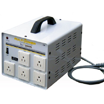 【送料無料】各国の電圧に対応したマルチ入力トランス ほとんどの電化製品が使える余裕の容量3000W