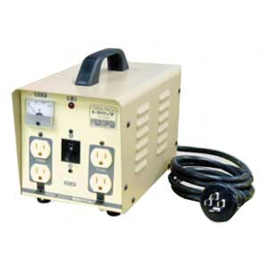 【送料無料】単相 単巻 降圧用変圧器 200V→100/115V 容量2KVA 三相からもOK