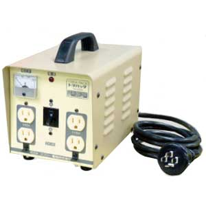 【送料無料】単相 単巻 降圧用変圧器 200V→100/115V 容量3KVA 三相からもOK