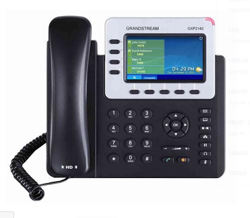 IP電話機 GRANDSTREAM GXP2140 (企業向けハイエンド)