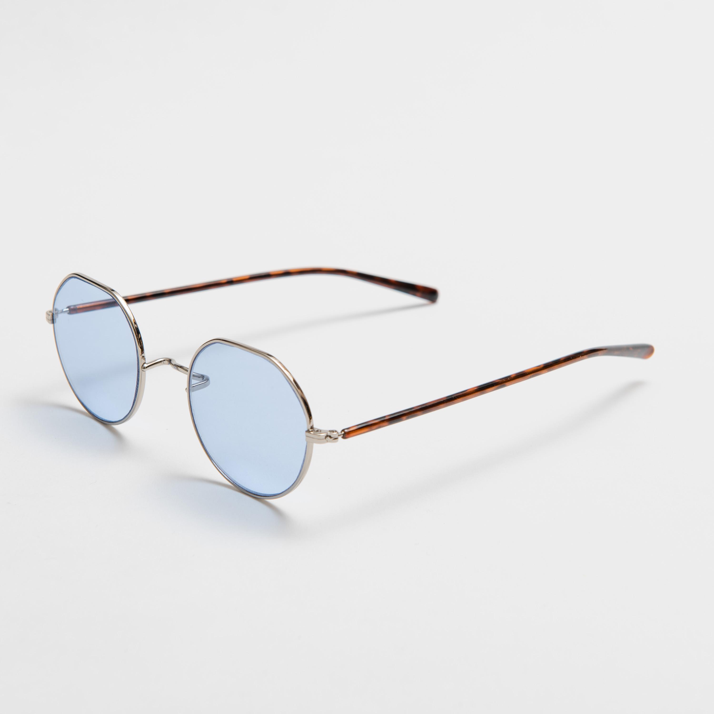 WELLER Brown Blue Lens sunglasses 《ウェラー ブラウン ブルーレンズ サングラス》