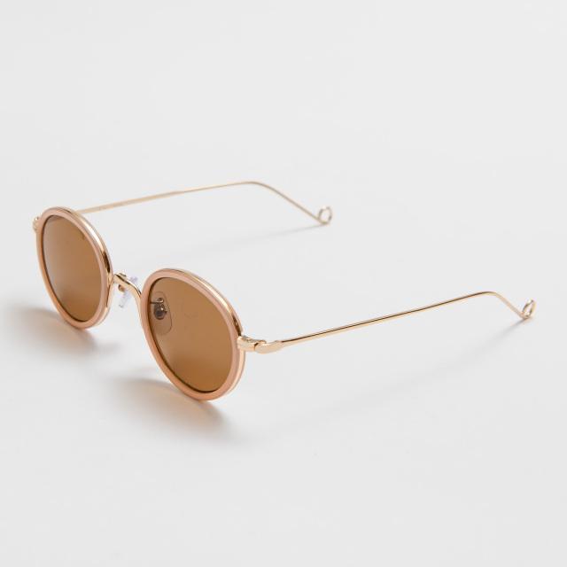 HERBIE Pink-Beige Brown Lens sunglasses 《ハービー ピンクベージュ ブラウンレンズ サングラス》