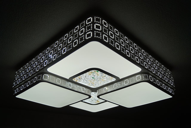 LEDシーリングライト DLKC012 調光調温 リモコン (インテリア照明 間接照明 ペンダントライト 天井照明 北欧)