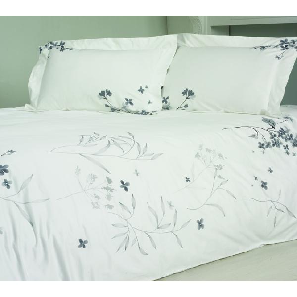 BKQ008ピロケースL(刺繍)(ベッドリネン 寝具カバー 掛け布団カバー ボックスシーツ 枕カバー 北欧 花柄)