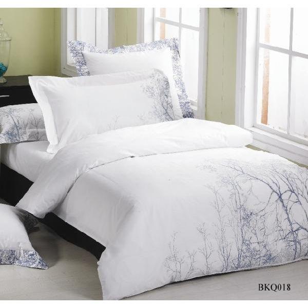 BKQ018ピロケースL(刺繍)(ベッドリネン 寝具カバー 掛け布団カバー ボックスシーツ 枕カバー 北欧 花柄)