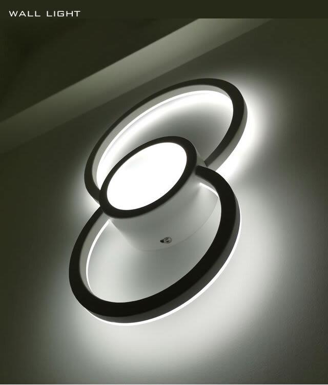 お洒落な壁照明_wall_round 明るい2000ルーメン LED暖色と白色の二色調温 高級ホテルスタイル