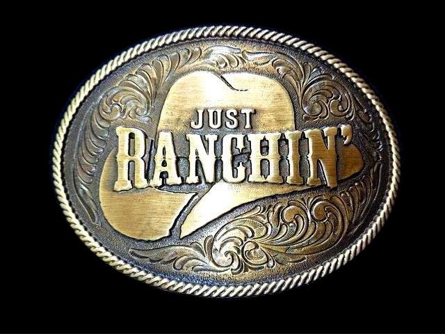 バックル MONTANA BUCKLE  A805DBC  Dale Brisby Just Ranchin' Buckle