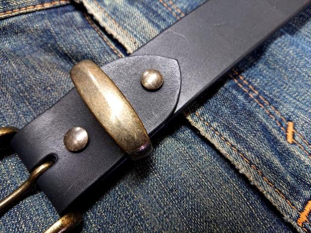 真鍮製アンティークブラスカラー ベルトループ(サルカン)40mm幅